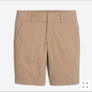 NWT J. Crew Frankie Bermuda Chino Shorts sz 2
